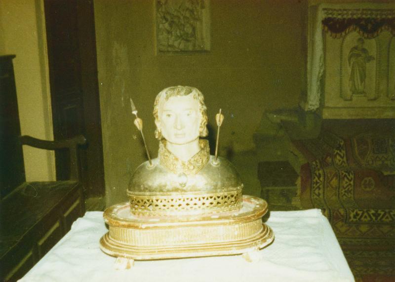 buste-reliquaire : saint Sébastien