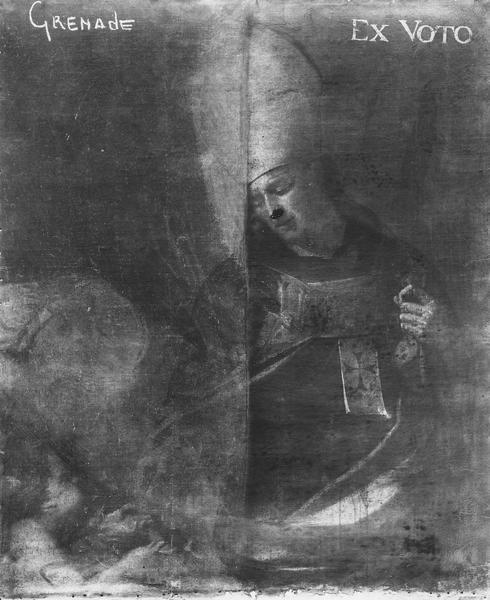 tableau : saint Abbé mitre