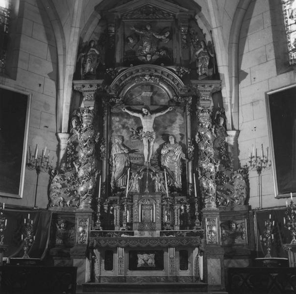 retable (du maître-autel) : calvaire, vue d'ensemble