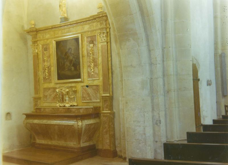 autel, tabernacle, retable, tableau : Vierge de Pitié