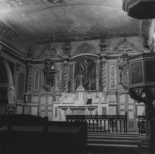 retable, tableau du maître-autel : Crucifixion