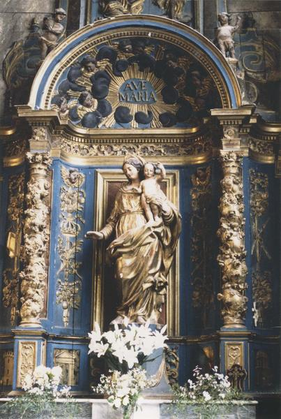 retable de la Vierge, détail