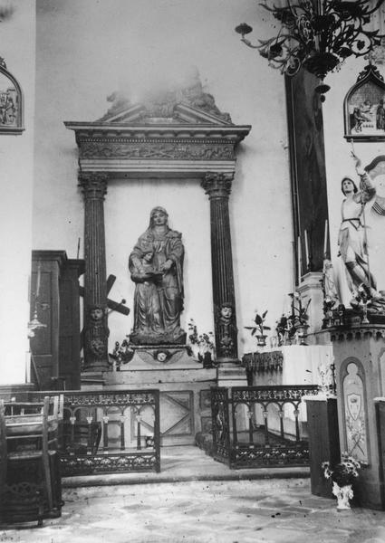 groupe sculpté, retable : Education de la Vierge