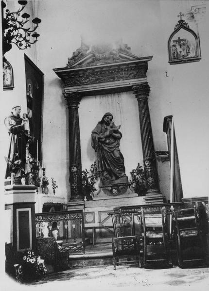 retable, statue : saint Joseph et l'Enfant Jésus