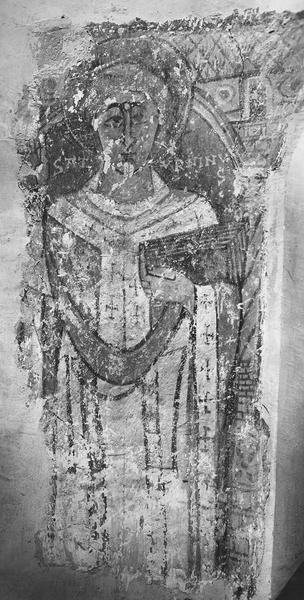 peintures monumentales : saint Aventin, saint Saturnin, détail d'une personnage
