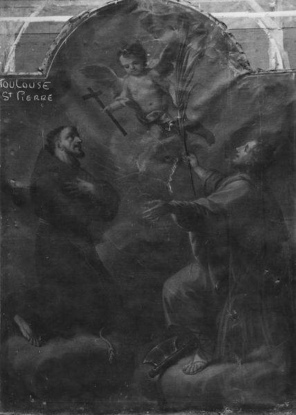 tableau : saint François et saint Félix, détail