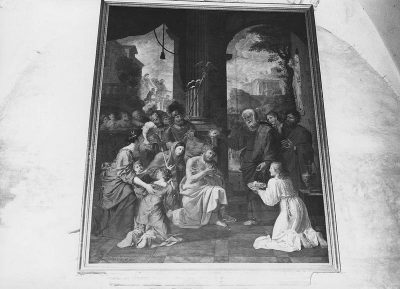 tableau : baptême du centurion, vue d'ensemble