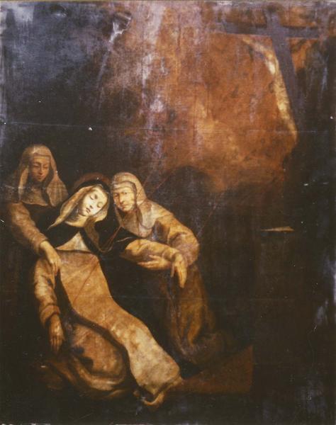 tableau : sainte Catherine de Sienne recevant les stigmates