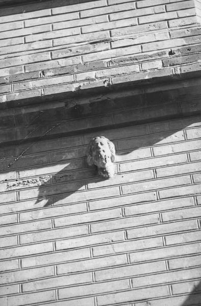statue (tête) : saint barbu, vue d'en bas