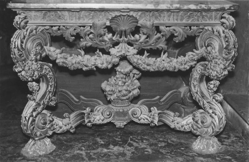 table d'applique, détail