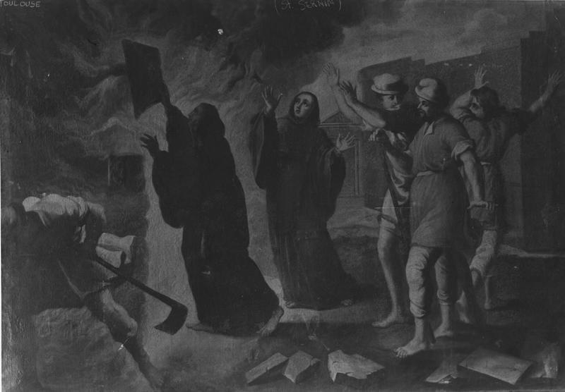 tableau : saint François de Paule et le miracle du four à Chaux