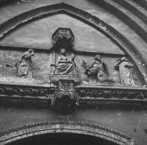 haut-relief : Adoration des Mages, détail