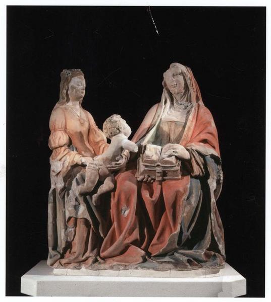 Groupe sculpté : sainte Anne trinitaire, vue générale