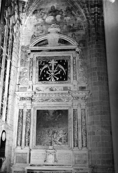 autel, retable de la chapelle du Purgatoire