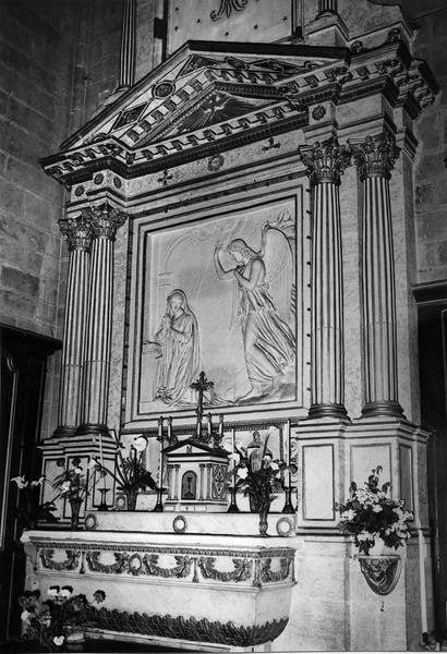 autel, retable de la chapelle de l'Annonciation