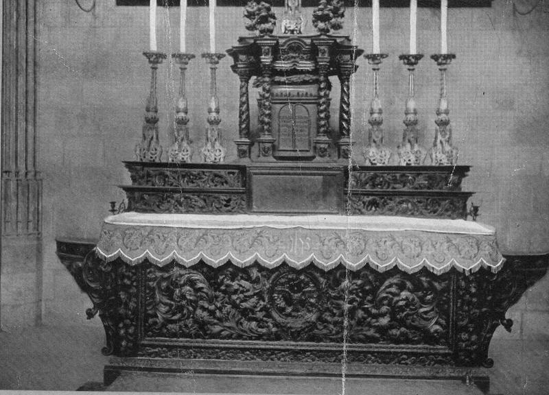 Autel de la chapelle du Purgatoire