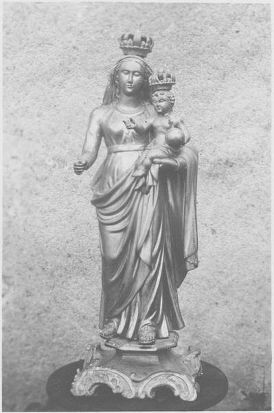 Statue (statuette): Vierge à l'enfant, vue générale