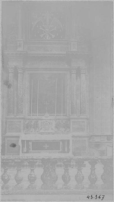 Lambris de revêtement de la chapelle de l'Annonciation