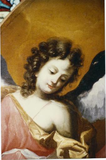 Tableau : sainte Rita, détail d'un ange