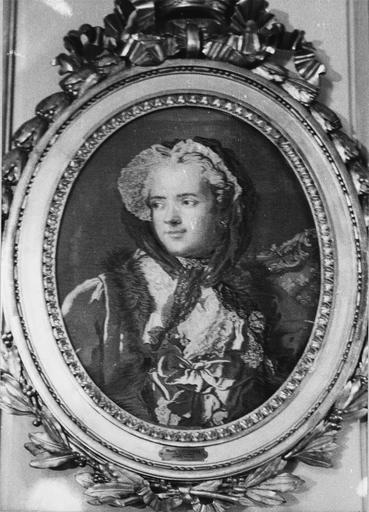 Pièce murale : Portrait de la reine Marie Leczinska
