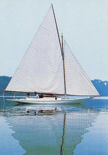 bateau de compétition (bateau de régate de rivière) dit Vétille