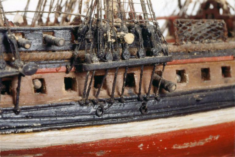 Ex-voto : maquette de navire à 2 ponts