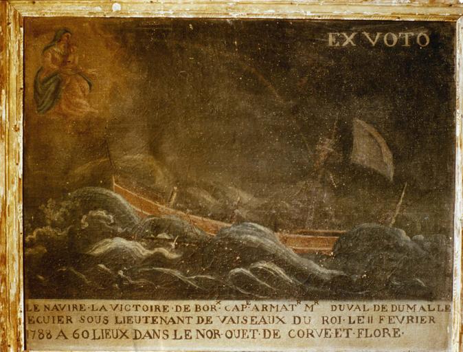Tableau, ex-voto : Navire la Victoire