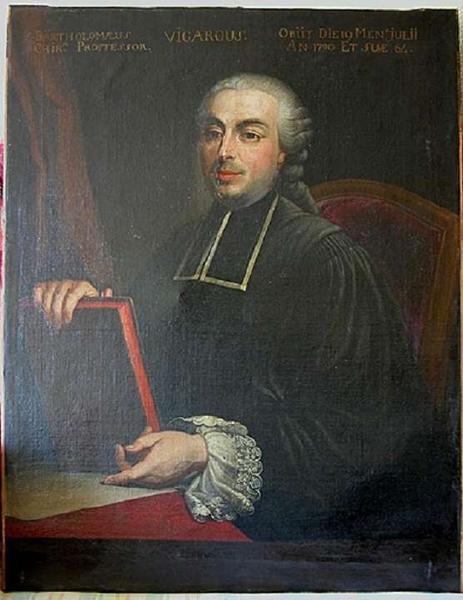 tableau : portrait de Bartholomé Vigarous. Vue générale.