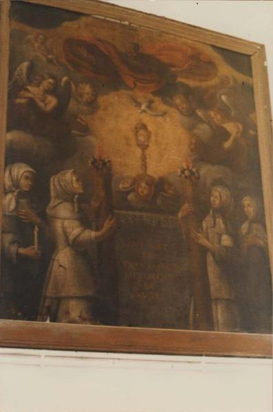 tableau de confrérie : l'Adoration du saint sacrement