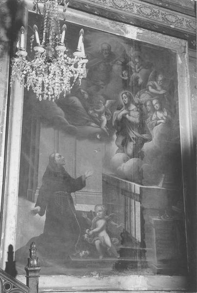 tableau : Apparition de la Vierge à saint François, vue générale