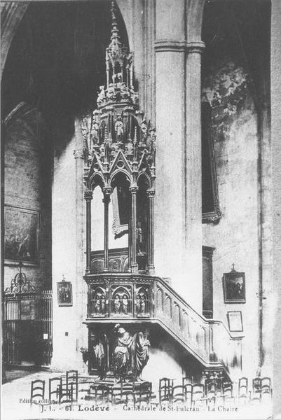 Chaire à prêcher (abat-voix) style néo-gothique