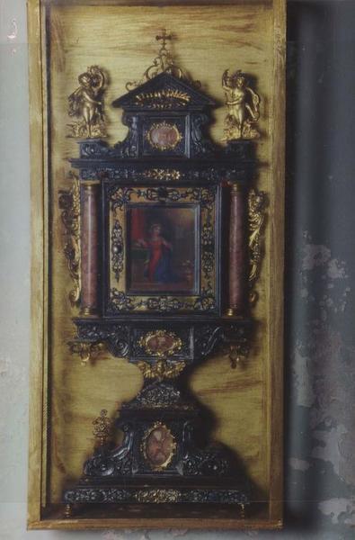 2 retables-reliquaires : La Vierge de l'Annonciation, l'Ange de l'Annonciation