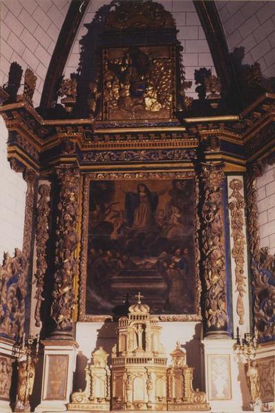 autel, retable, tabernacle, tableau (maître-autel) : l'Assomption