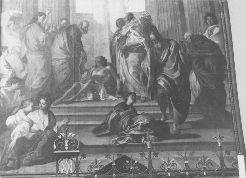 Tableau : Saint Pierre guérissant le paralytique à Jérusalem