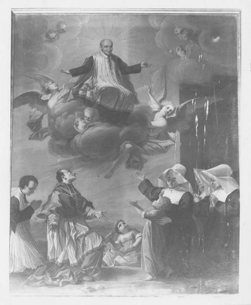 Tableau : Apothéose de saint Vincent-de-Paul