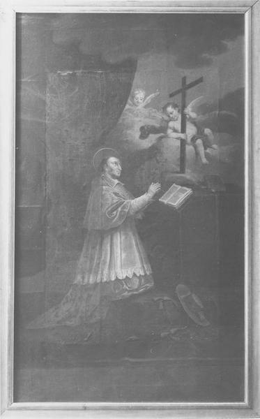 tableau : Saint Charles-Borromée en prières, vue générale