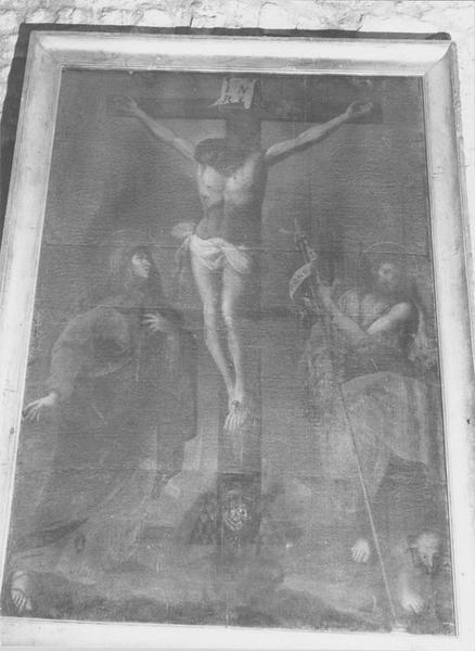 tableau : la Crucifixion avec la Vierge et saint Jean-Baptiste