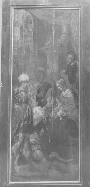tableau : Adoration des Mages, vue générale