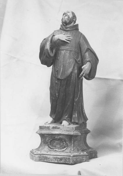 statue (statuette) : saint François de Paule, vue générale