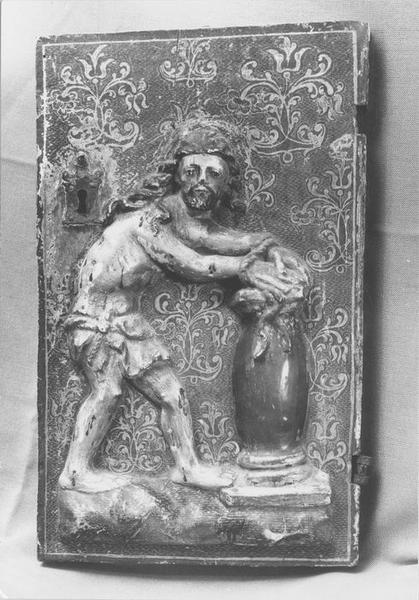tabernacle (porte de tabernacle) : Christ à la colonne, vue générale
