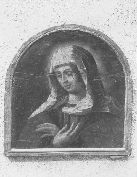 tableau : Vierge en buste (la), vue générale