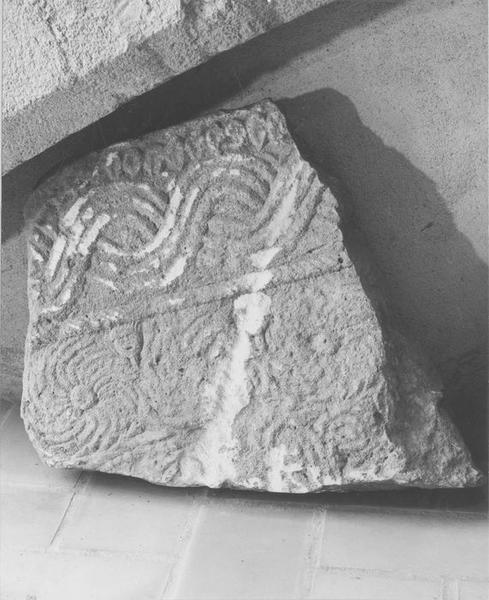 plaque décorative (chancel), vue générale