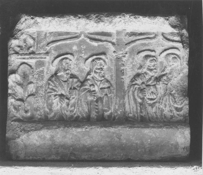 prédelle: quatre apôtres, vue générale