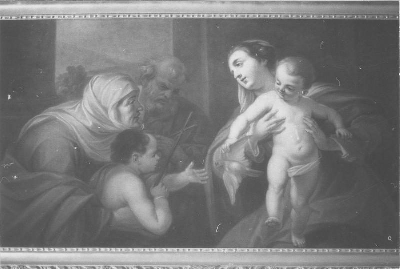 Tableau : Vierge à l'Enfant, avec sainte Elisabeth et saint Jean-Baptiste