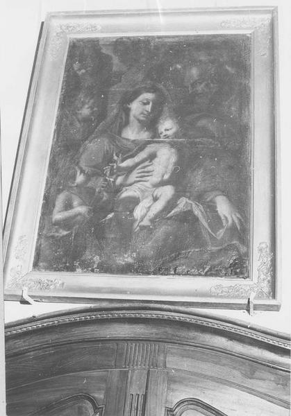 tableau : la Sainte Famille et saint Jean-Baptiste