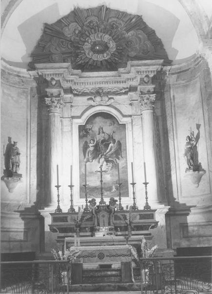 autel, retable, tableau (maître-autel) : Apothéose de saint Louis (l'), vue générale