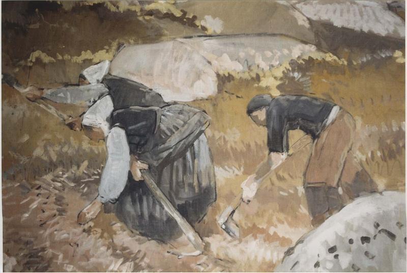 tableau : brignonan, goémoniers