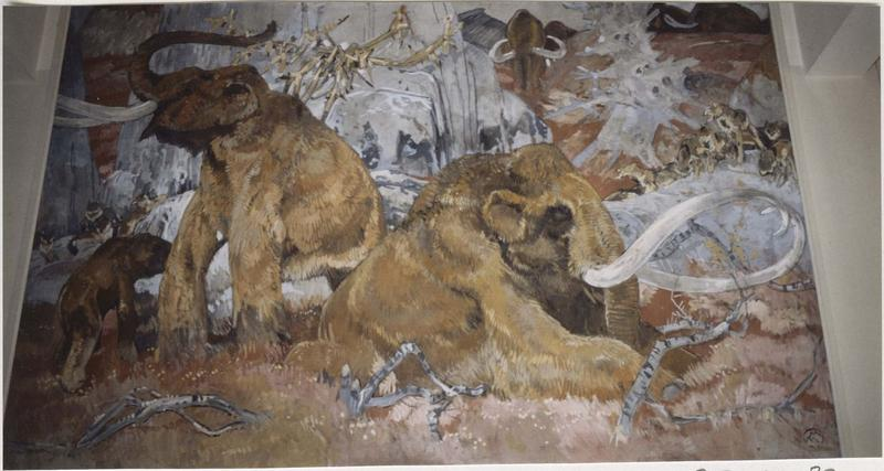 Tableau : Mammouths, vue générale