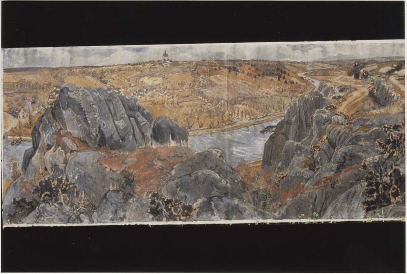 Tableau : Palléozoïque, Vallée de la Vilaine, vue générale