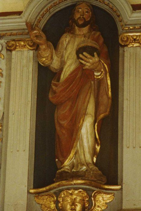 statue : Christ au globe, vue générale